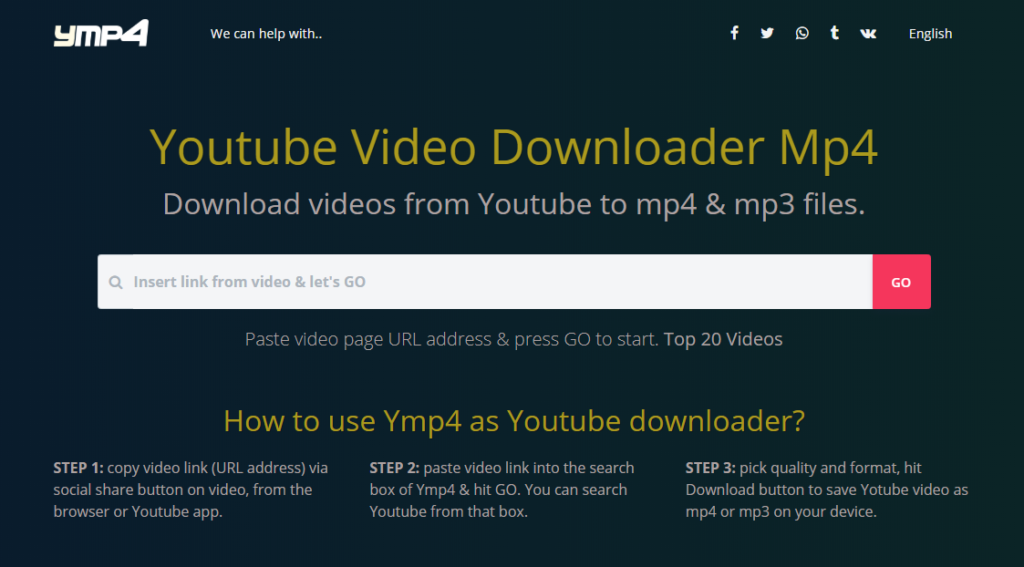Ymp4: Best website to download Youtube videos for Free