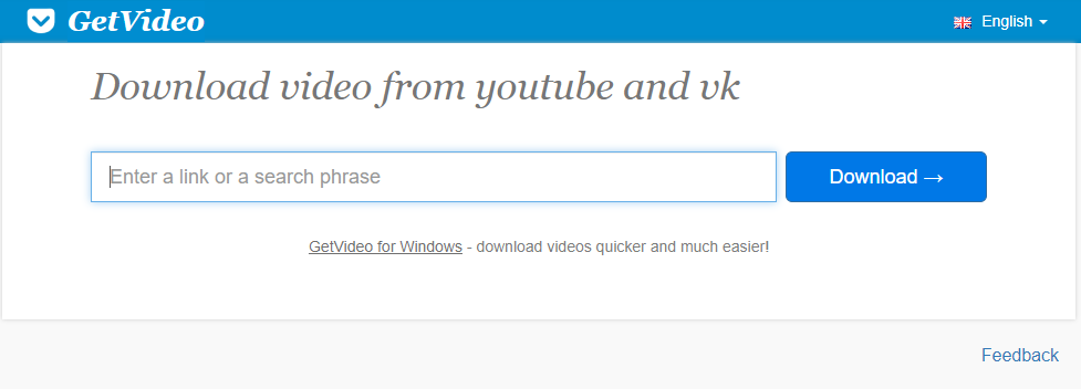 GetVideo.org: Online video downloader website for Youtube and Vimeo