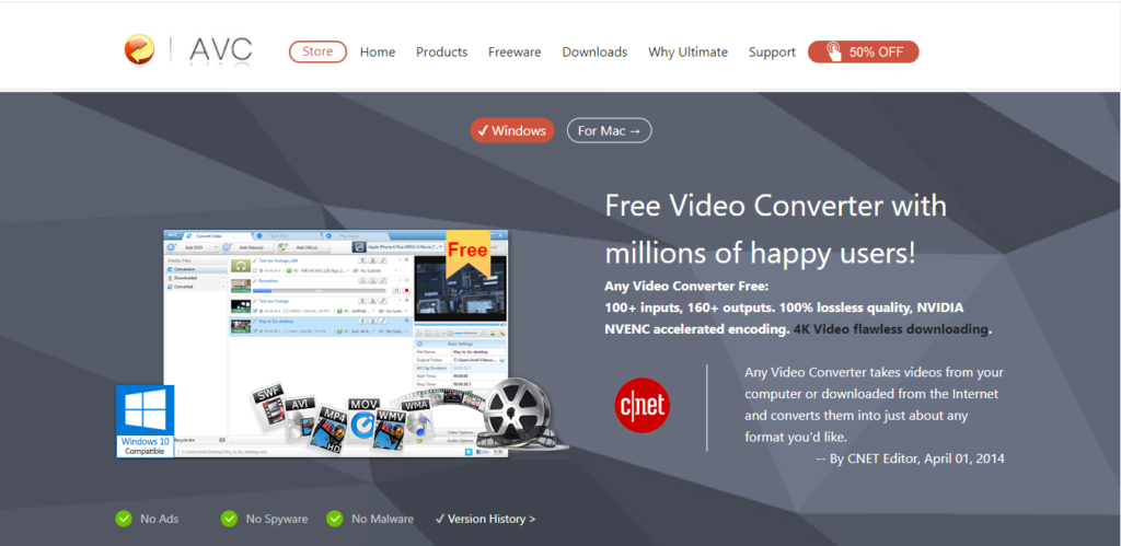 Any Video Converter Free: online youtube downloader