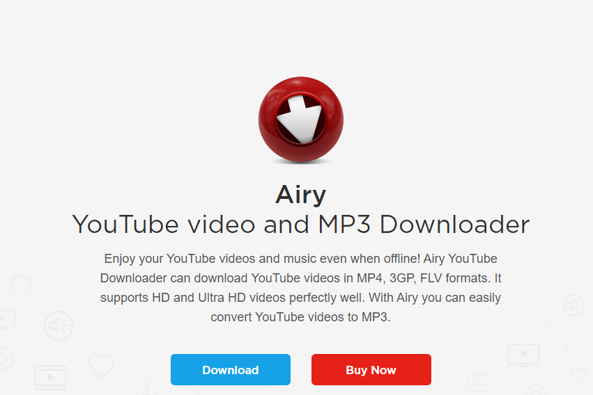 Airy Youtube Downloader: Download HD and Ultra HD Videos