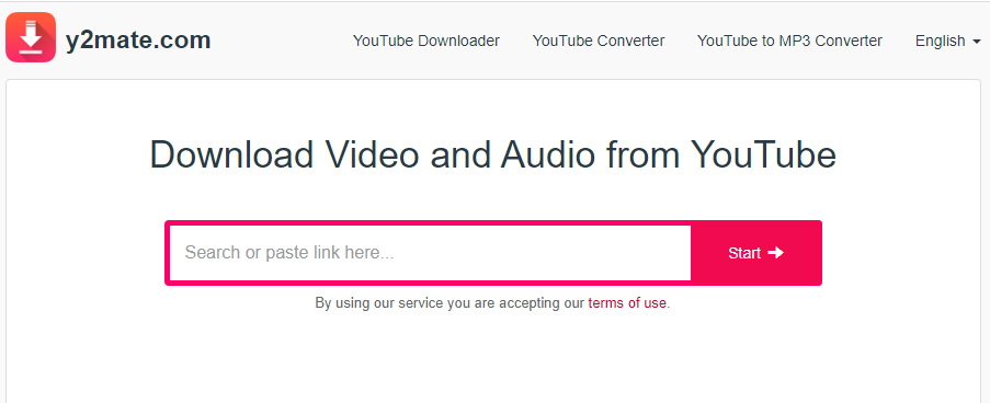 Y2Mate: Online Youtube downloading service